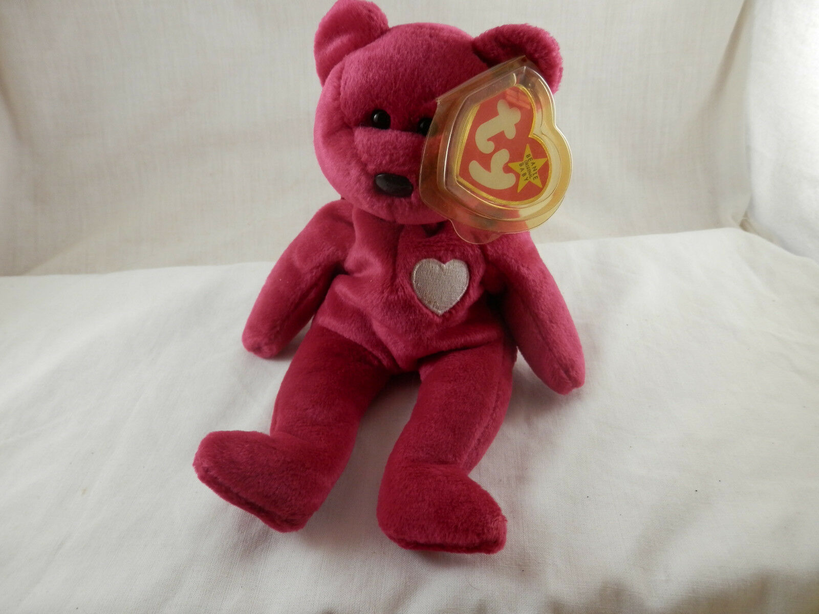TY Valentina Bear Beanie Babies Collection plush 8  many errors in tags