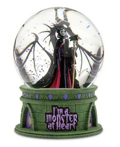 DISNEY-PARKS-MALEFICENT-LIGHT-UP-SNOW-GLOBE-I-m-A-Monster-At-Heart-Villains-Gift