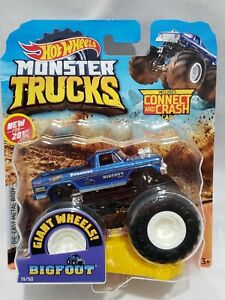 New 2019 Hot Wheels Monster Jam Bigfoot Blue Monster Truck 1 64 Rare Htf Ebay
