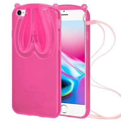 Cute Rabbit Ear TPU Back Cover Case For