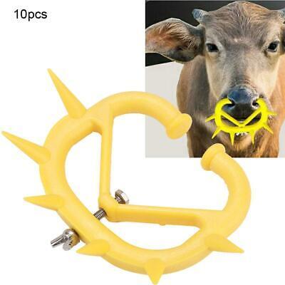 20 PCS Calf Weaner Cattle Nose Ring Anti-Sucking Milking Stop Thorn Weaning Tool