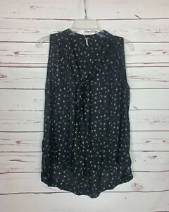 Free People Women's S Small Black Sleeveless Spring Summer Cute Top Blouse Tank