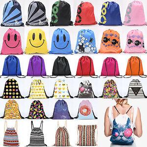 Mens-Womens-Kid-Waterproof-Backpack-Gift-Bag-Gym-PE-Swim-Drawstring-Nursery-Pack