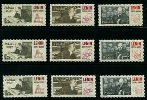 1970-Poland-Stamps-Soviet-Lenin-3-Complete-Sets-MINT-UNC-NH-SC-1728-1730