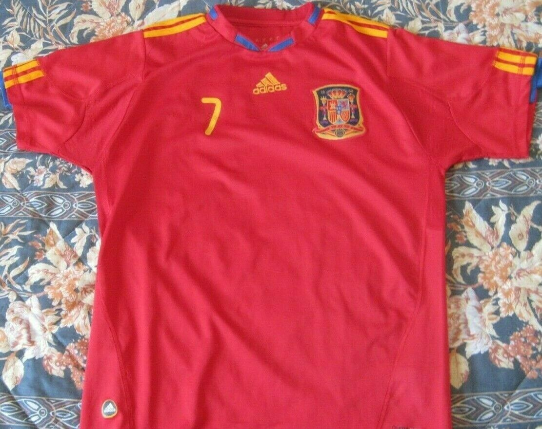 Camiseta Shirt Trikot Maglia SPAIN Adidas WC 2010 David Villa 7 Champions