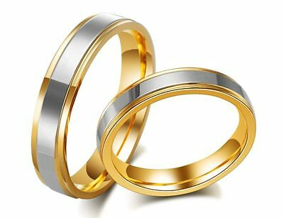 925 sterling silver rings for lovers 18K gold plated couple wedding rings 2015