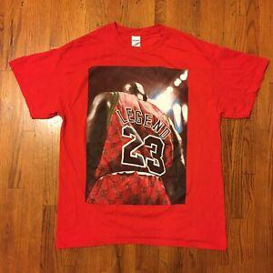 VTG-90s-Michael-Jordan-T-Shirt-Mens-Large-Basketball-Streetwear-23-OG-Red-Bulls