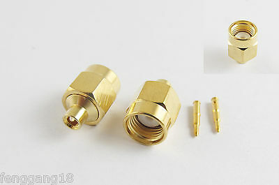 "5pcs SMA Male Plug Solder For Semi-Rigid RG405 0.086"" Cable RF Connector"