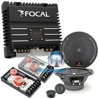 Pkg Focal 165a1 Car Audio 6.5 Component Speakers + Solid2 2-channel Amplifier