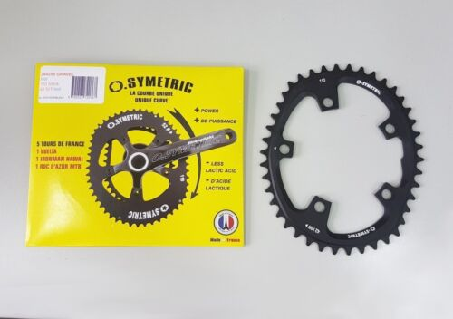 Osymetric Road XCross Gravel Narrow Wide BCD 110mm 5Bolt 42T Chainring