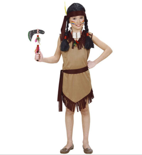 SALE GIRLS INDIAN FANCY DRESS COSTUME NATIVE AMERICAN SIZES S,M,L AGES 5-13