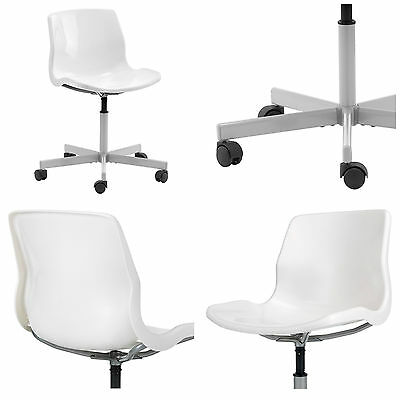 IKEA SNILLE Swivel Office Computer Desk Work Till Chair White
