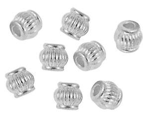 50-Tibet-Silber-Zwischenteil-Metallperlen-fuer-Schmuck-5mm-Versilbert-F208