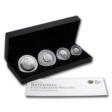 2010 GB 4-Coin Silver Britannia Proof Set (w/Box & COA) - SKU #58125