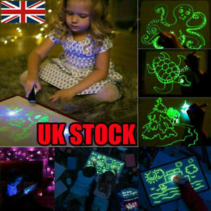 Magic-Draw-With-Light-Drawing-Board-Fun-Developing-Toy-Kid-Educational-Paint-UK