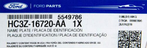 OEM NEW 17-18 Ford F-250 XL Super Duty Front Fender Emblem Badge Nameplate Set