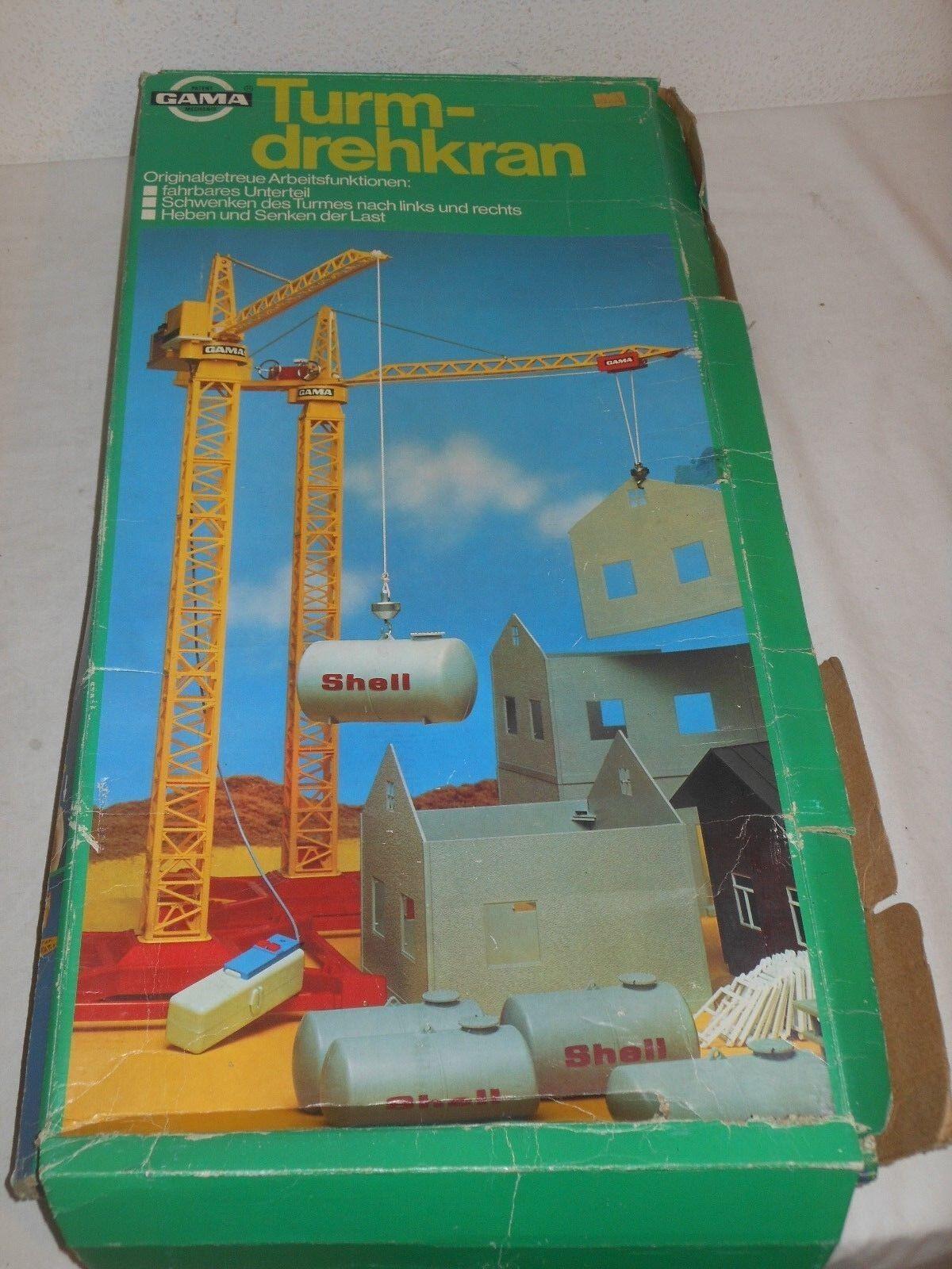 Gama - Large Big Tower Crane - Construction Crane - Toy Germany -