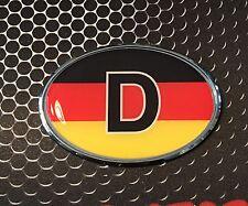 "Germany FLAG CHROME Emblem Deutschland Proud Car Domed sticker 3D 3.25""x 2.25"""