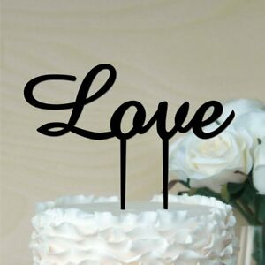 Love Cake topper your choice Colour ACRYLIC Engagement Wedding Anniversary