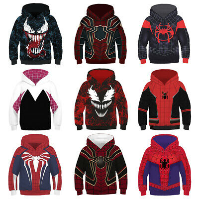 New Fashion Women//Men Spiderman Funny 3D Print Hoodie Sweatshirt 661