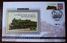 2009 Ltd Ed Benham Error Cover - NER Express Goods Locomotive 4-6-0