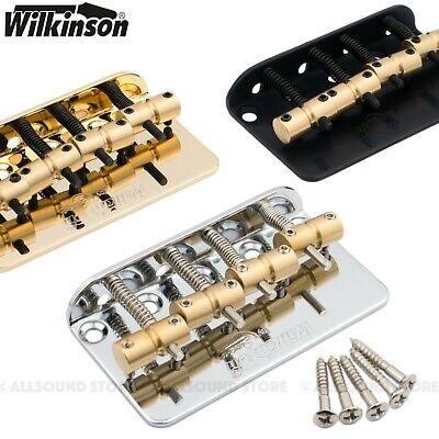 Wilkinson 5 String Chrome Bass Bridge Brass Saddles Precision Jazz WBBC BB518