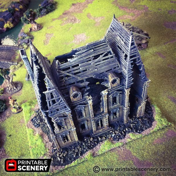 Ruinerade Chateau 28mm Tablettytop spel Dwarven Forge D &D Terrain Wargamin