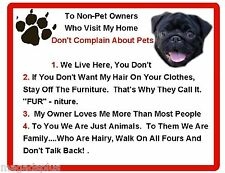 Magnet Gift Card Idea Funny Dog Bloodhound House Rules Refrigerator