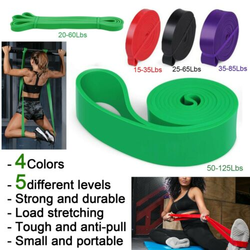 Heavy Resistance Workout Bands Loop Elastic Exercise Fitness Yoga Gym Pilates