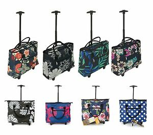 Lightweight Wheeled Shopping Tote Cabin Bag Trolley Airline Hand ...