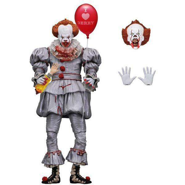 "IT Pennywise 2017 ""I Heart Derry"" Ultimate 7  Action Figure NECA IN STOCK"