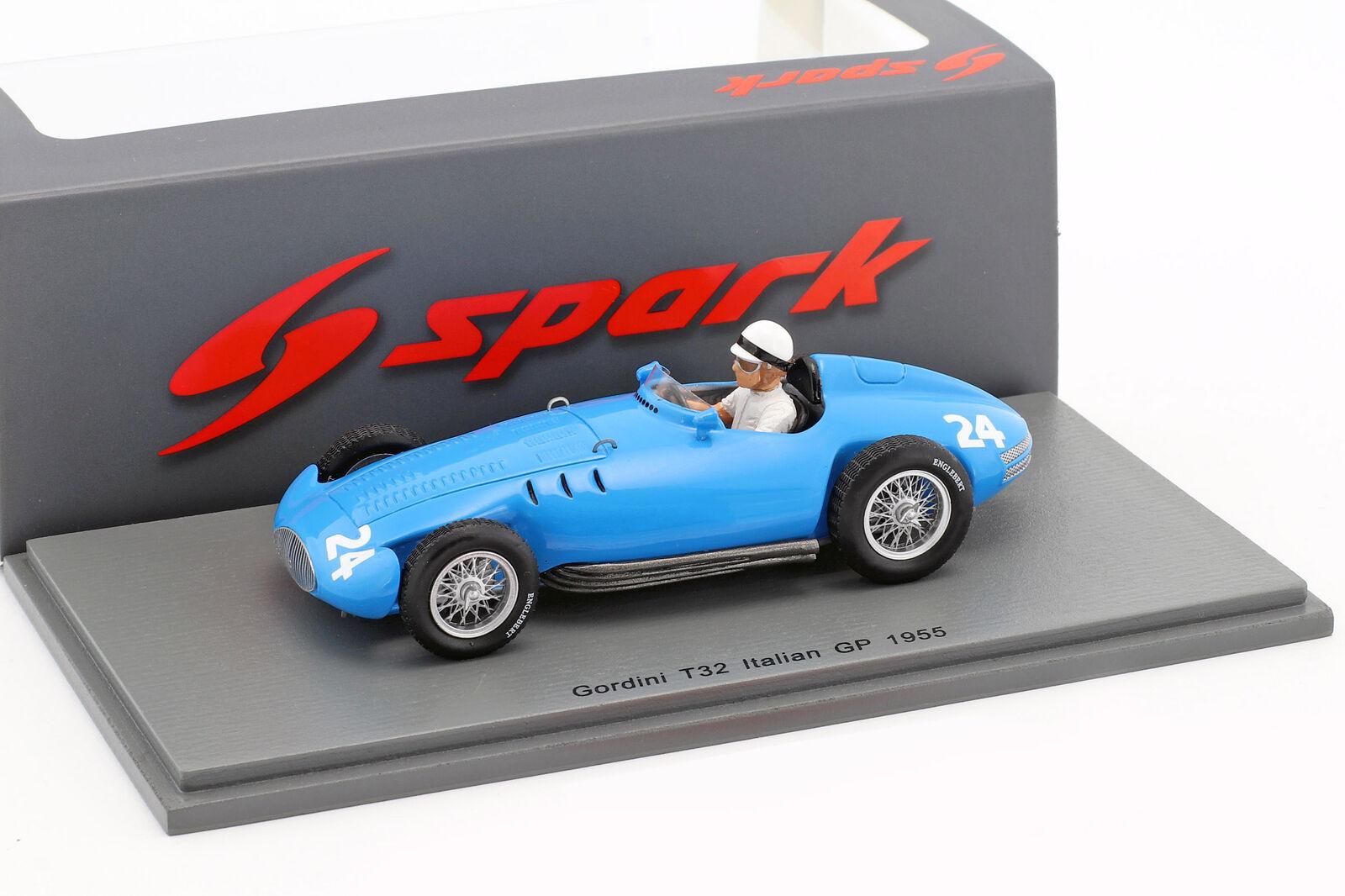 Jean Lucas GORDINI t32  24 Italie GP Formule 1 1955 1 43 Spark