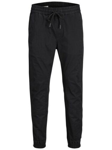 Jack /& Jones Intelligence Pants Elasticated Stretch Slim Trousers Mens JJIVega