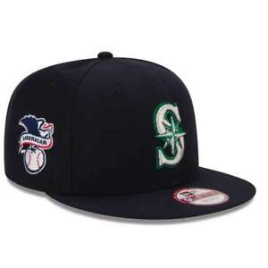 online store 691f8 db784 Image is loading Seattle-Mariners-AL-Patch-New-Era-9FIFTY-MLB-