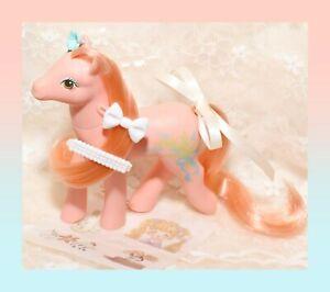 ❤️My Little Pony MLP G1 Vtg 1988 Sweetheart Sister Wild Flower Peach Coral❤️