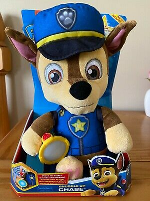 Paw Patrol Snuggle Up Lights and Sounds CHASE Doll Plush Toy Night Light 2019