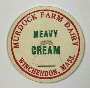 Murdock-Farm-Dairy-Winchendon-Massachusetts-MA-Cream-Vintage-Milk-Bottle-Cap