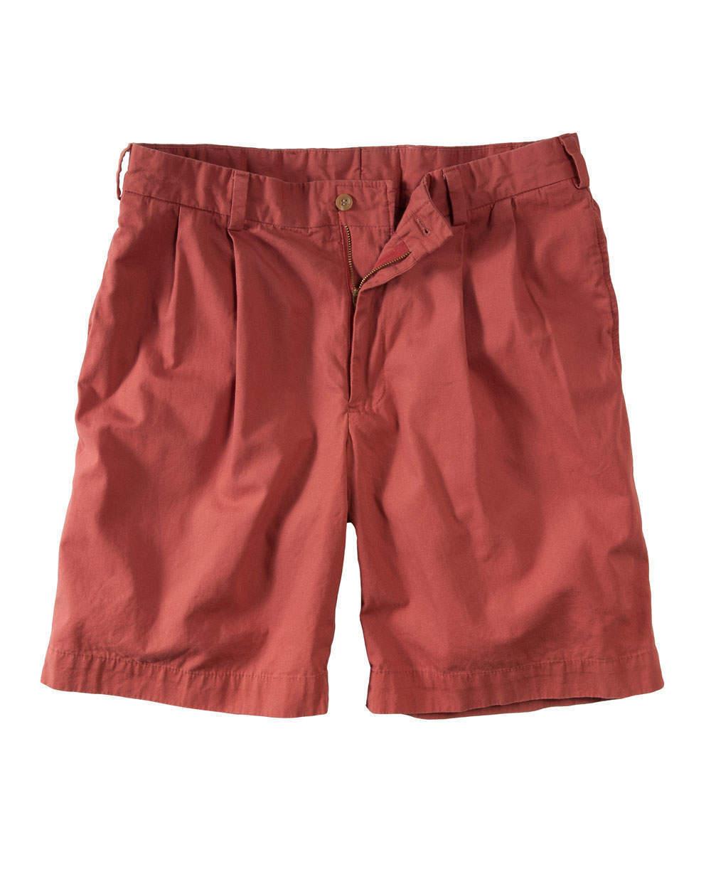 NWT  Bills Khakis Poplin M2 Pleated Shorts WRPB Red SZ 33