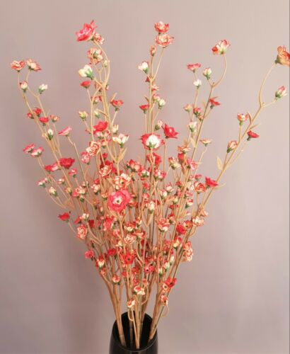 10 branches avec fleurs Art-plante deco-Bouquet de Fleur Tresse Décoration Rouge