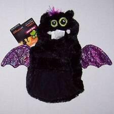 NWT Plush Bat Costume for Dogs Dog Black Purple Large Halloween