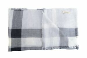 Burberry-Wool-Silk-Multi-Color-Checkered-Women-039-s-Scarf