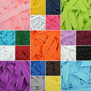 Saddle-Stitched-Grosgrain-Ribbon-in-20-Plain-Solid-Colours-10mm-15mm-25mm