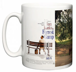 "Tom Hanks Mug ""Classic Hollywood Movie Poster Forrest Gump"" Coffee Tea Gift"