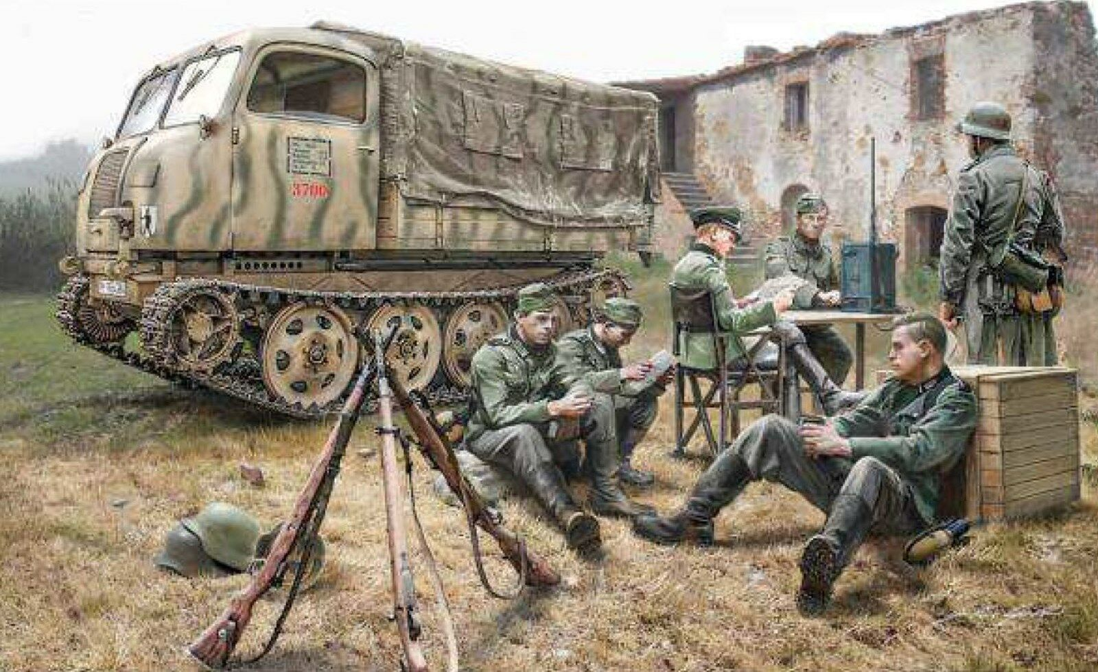 Italeri Steyr RSO 01 with German soldiers and accessories 510006549 in 1 35 6549