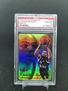 Charles-Barkley-1997-98-Flair-Showcase-Row-3-34-PSA-10-Gem-Mint-Population-1-1