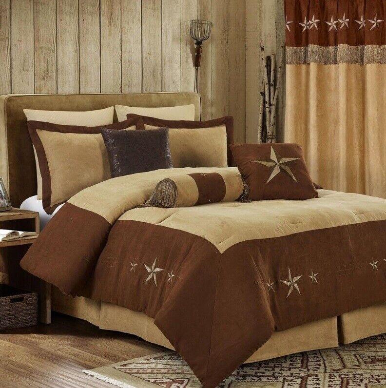 7 Piece Comforter Texas Western Camel Star Bedspread Luxury Bedding Set Curtains