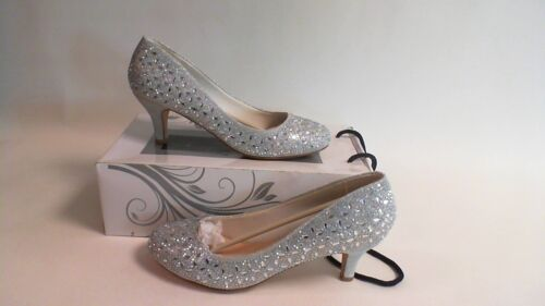 Silver Merida G Westerleigh Wedding Bridal Shoe Size 40 UK 7 #8D573
