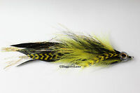 Yellow & Black Articulated Muskie, Pike, Big Bass Fly