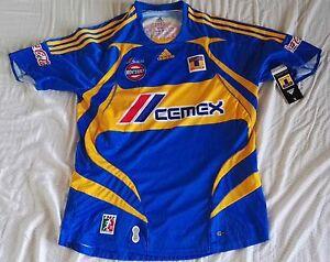 Team Blue Tigres Mens Official Soccer Jersey Adidas Size L Visita ... 7d7cb49c1a81e