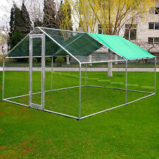 10 X 10Ft Large Metal Pet Cage Chicken Run Walk In Coop Hutch For Poultry New